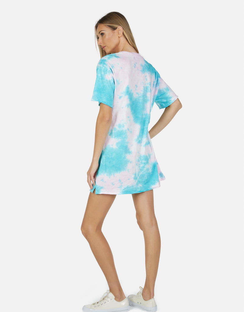 Burman LE Pink Turq T-Shirt Dress