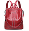 Scarlet Red Pebble Leather Back Pack-Handbag
