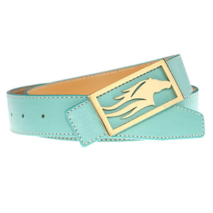 BELT Dimacci S (85cm) turquoise gold plated