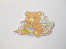 Load image into Gallery viewer, Fat Bear Snack Die Cut Sticker