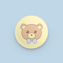"Load image into Gallery viewer, Fat Bear Face 1.25"" Button"