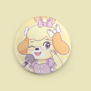 "Idol Isabelle 1.5"" Button"