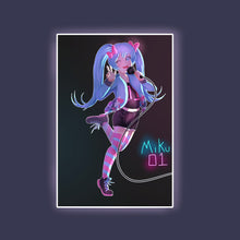 Load image into Gallery viewer, Rockin' Miku Print