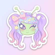 Load image into Gallery viewer, Nancy the Alien Sticker