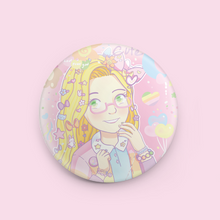 "Load image into Gallery viewer, Fairy Kei Rapunzel 1.5"" Button"
