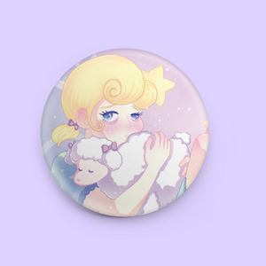 "Tired Girl 1.5"" Button"