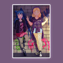 Load image into Gallery viewer, Grunge Yohane/Mari Print