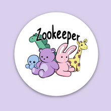 "Load image into Gallery viewer, Zookeeper 2"" Sticker"