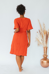 Bella Rust Midi Dress