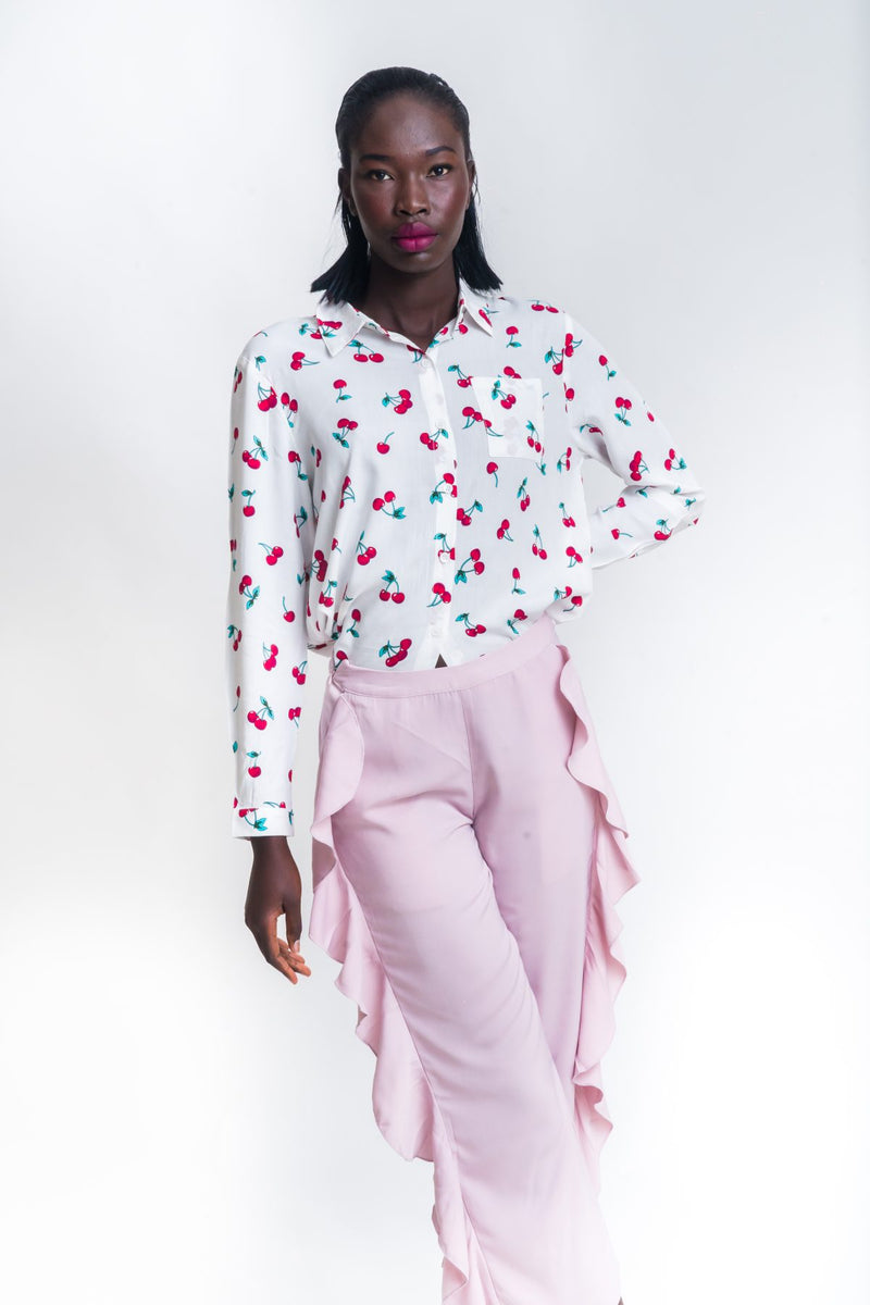 Cherry print blouse