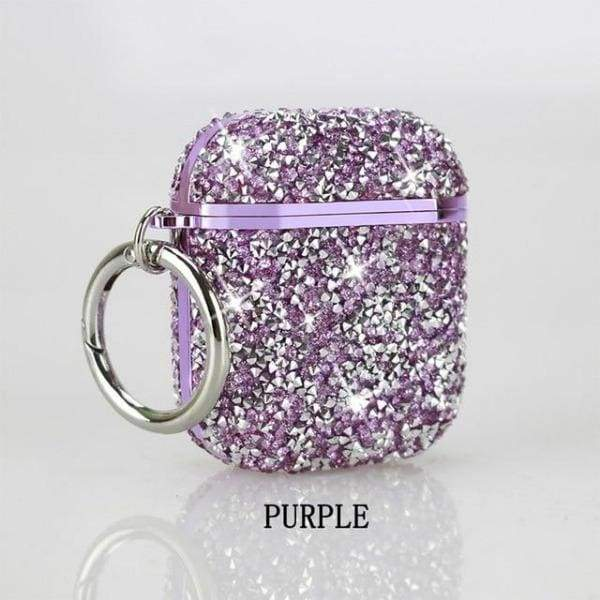 Coque AirPods Bling - Violet