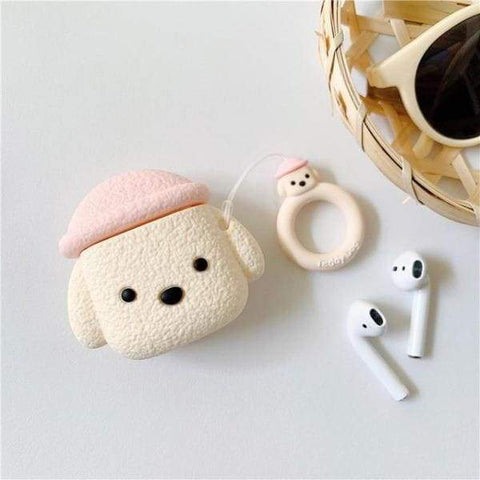 Coque AirPods Caniche - Rose - Airpods 1 & 2