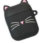 Coque AirPods Chat Noir - Oreille Rose - Airpods 1 & 2