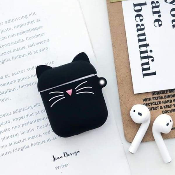 Coque AirPods Chat Noir - Airpods 1 & 2
