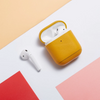 Coque AirPods Cuir Jaune - Airpods 1 & 2