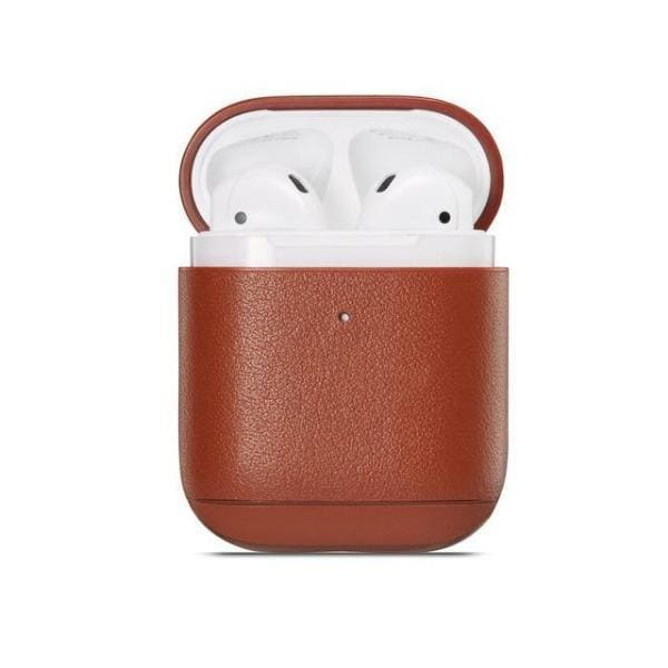 Coque AirPods Cuir Marron - Airpods 1 & 2