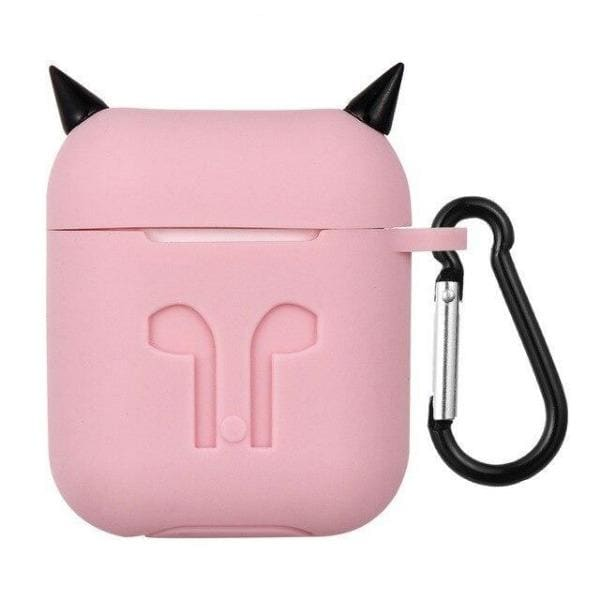 Coque AirPods Diable - Rose - Airpods 1 & 2