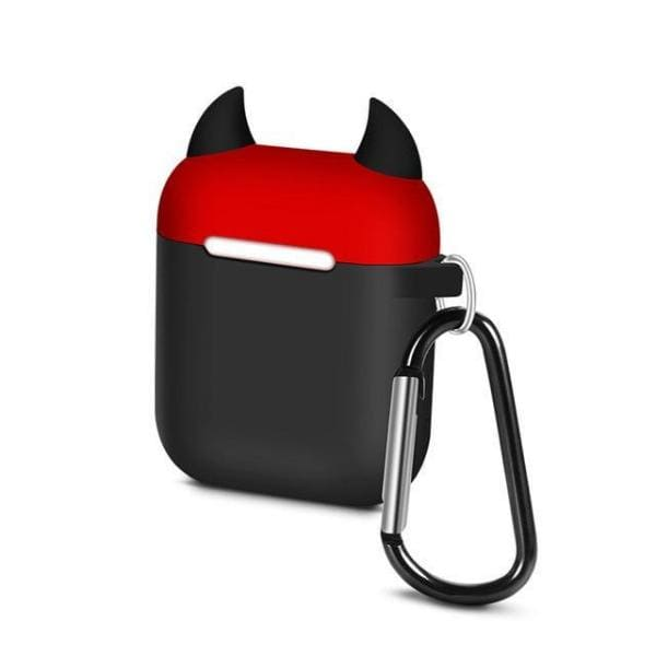 Coque AirPods Diable - Noir & Rouge - Airpods 1 2