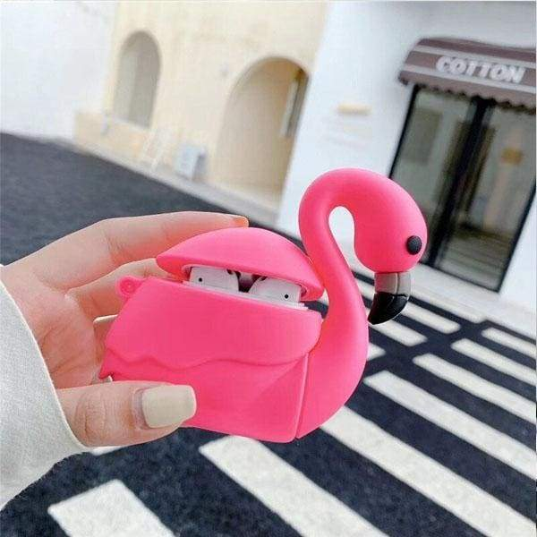 Coque Airpods Flamant Rose - AirPods 1 et 2