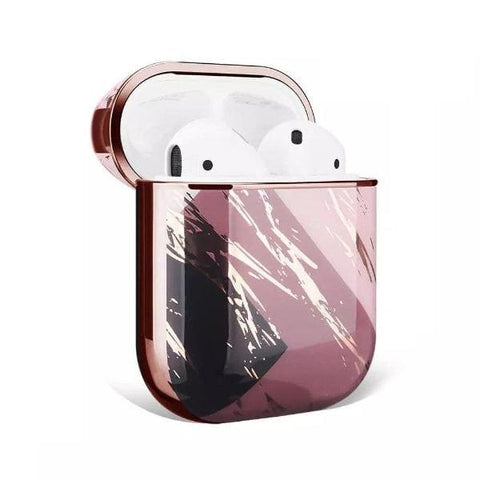Coque AirPods Marbre en Or Rose - Airpods 1 & 2