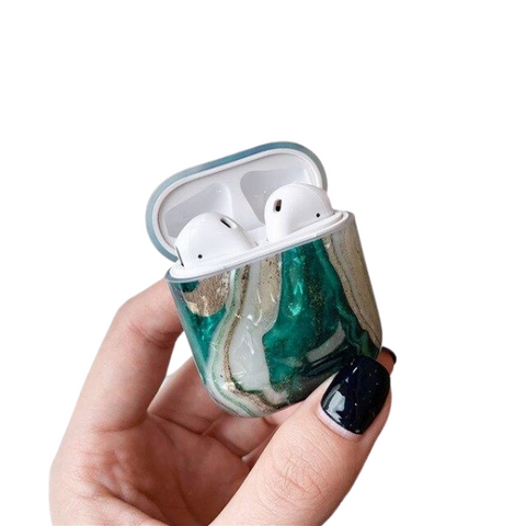 Coque AirPods Marbre Vert - Airpods 1 & 2