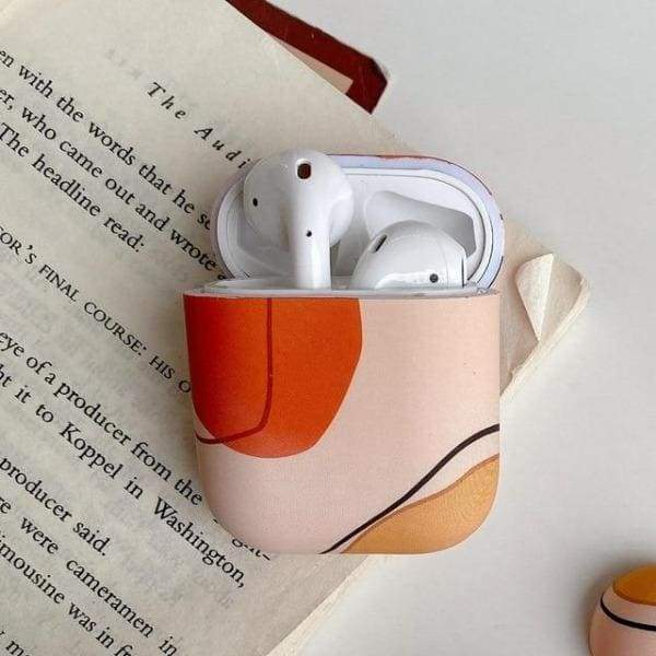 Coque AirPods Peinture - Gris & Rouge - Airpods 1 2