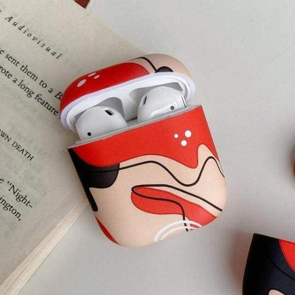 Coque AirPods Peinture - Rouge - Airpods 1 & 2
