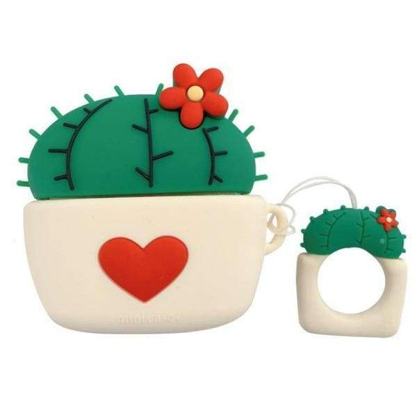 Coque AirPods Pro Cactus - Rouge - Airpods