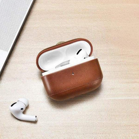 Coque AirPods Pro Cuir Marron - Airpods