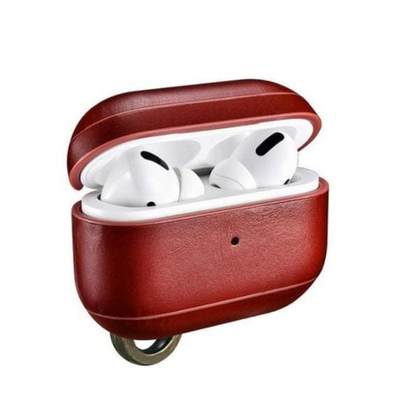 Coque AirPods Pro Cuir Rouge - Airpods