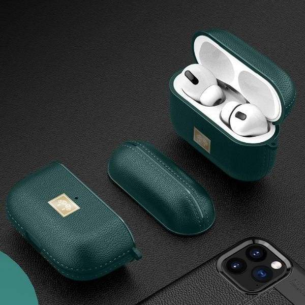 Coque AirPods Pro Cuir Vert - Airpods