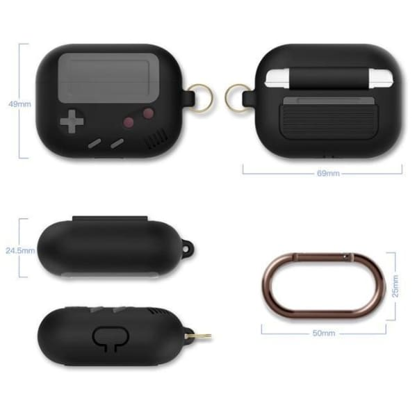 Coque AirPods Pro Game Boy - Noir - Airpods