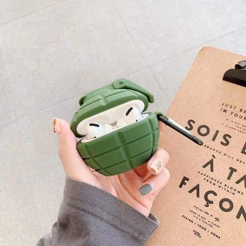 Coque AirPods Pro Grenade - Vert - Airpods