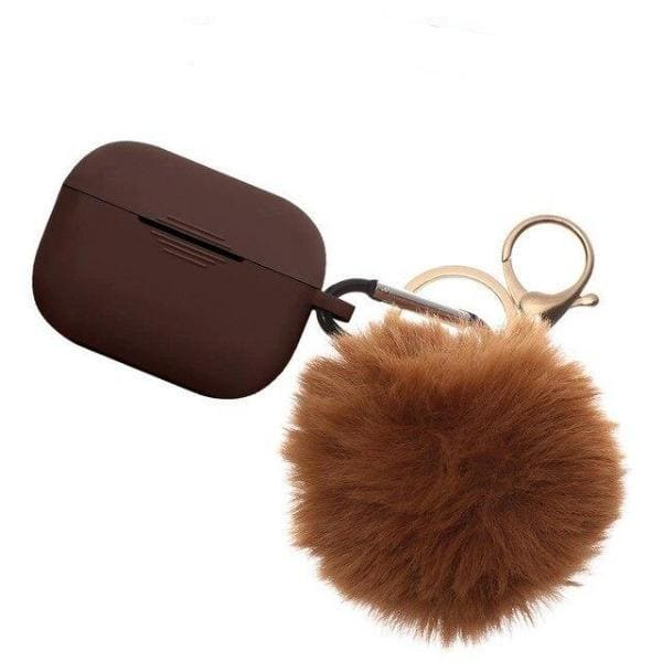 Coque AirPods Pro Pompon - Marron - Airpods