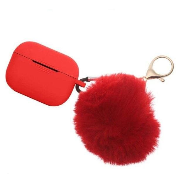Coque AirPods Pro Pompon - Rouge - Airpods