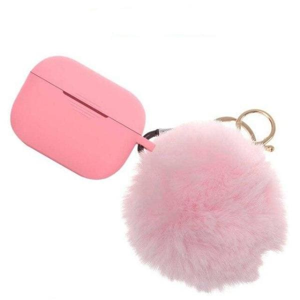 Coque AirPods Pro Pompon - Rose - Airpods