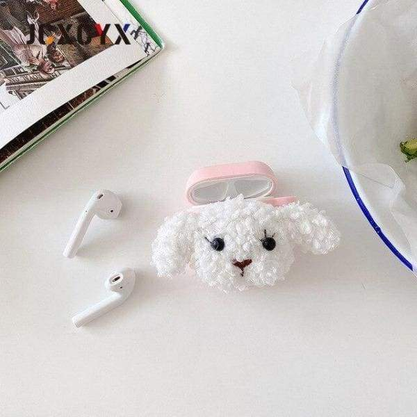Coque AirPods Pro Teddy Dog - Blanc - Airpods