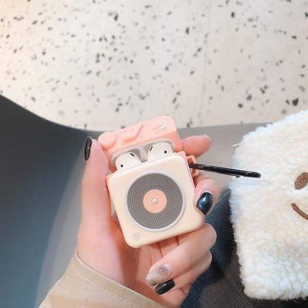 Coque AirPods Radio - Rose - Airpods 1 & 2