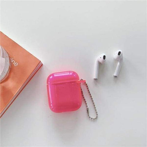 Coque AirPods Rose Transparente - Airpods 1 & 2