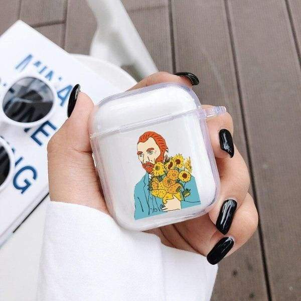 Coque AirPods Tournesol - Van Gogh Self-Portrait - Airpods 1