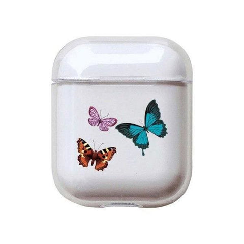 Coque AirPods Transparente Papillon - A - Airpods 1 & 2