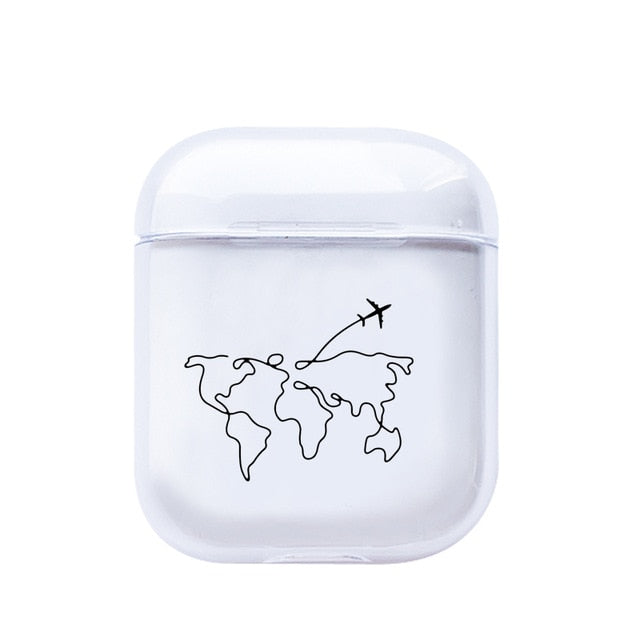 Coque AirPods Carte Du Monde