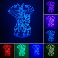 My Hero Academia Anime 3D LED Night Light 7 Color Changing Action Figure Lamp