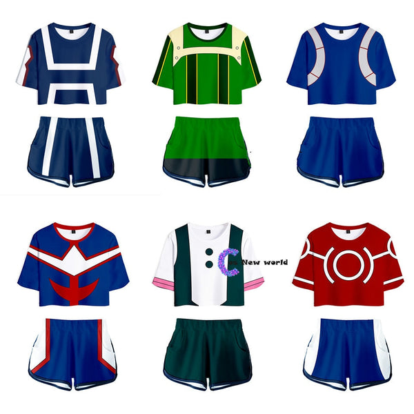 Females My Hero Academy Top/Pants Outfits
