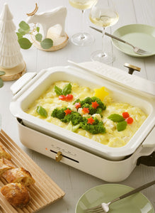 BRUNO Compact Hotplate in White Set