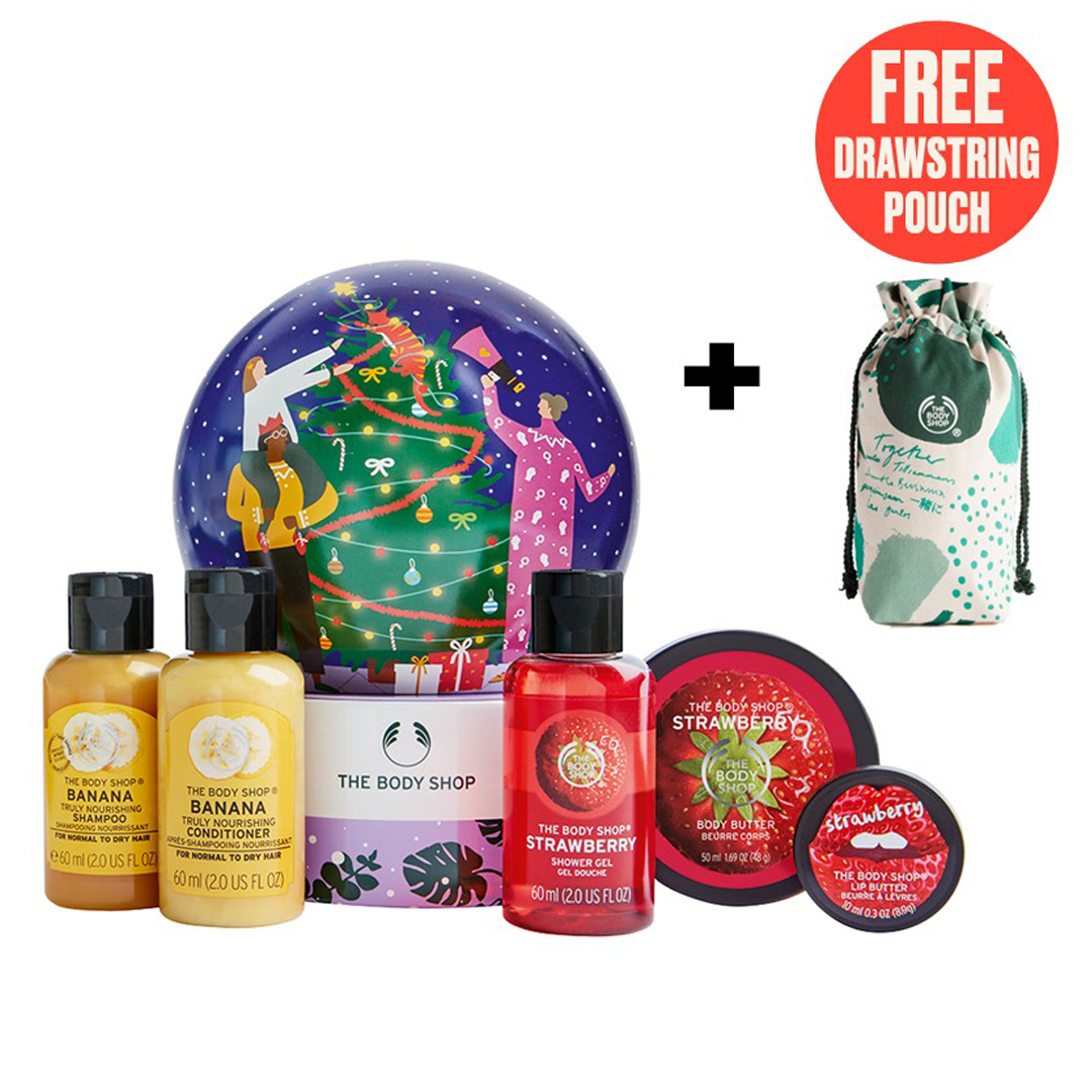 The Body Shop Lather & Smooth Snow Globe Gift Dome Set