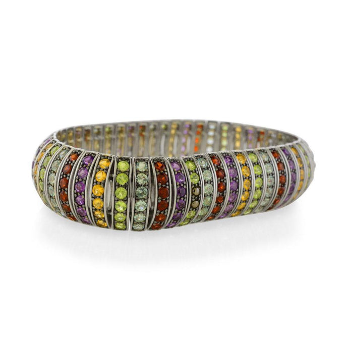 Multicolor Gemstone Bracelet in Sterling Silver - For The Love of Jewelry