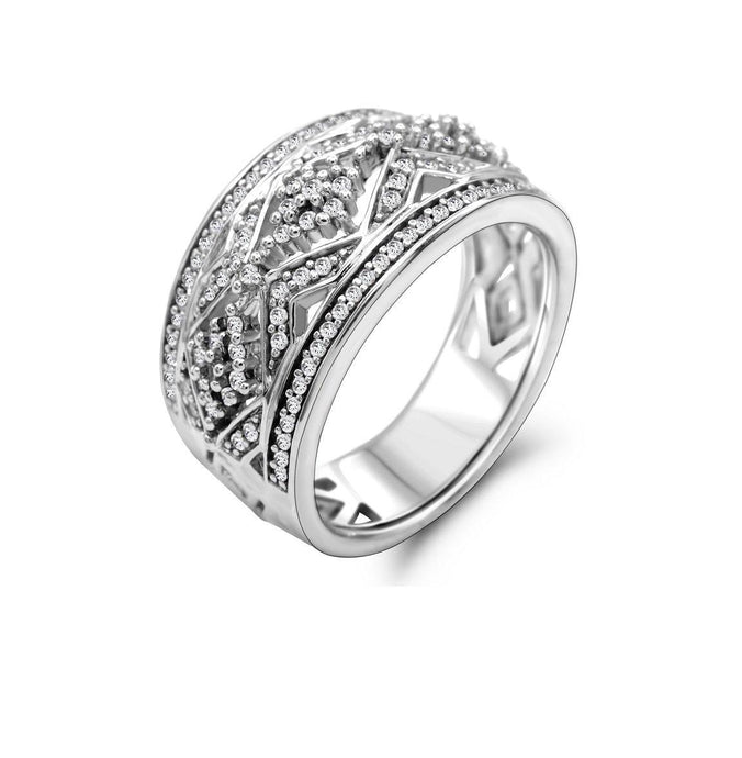 Diamond 3/8 ct TW Ring in Sterling Silver - For The Love of Jewelry