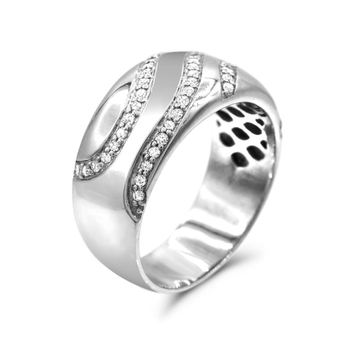 Diamond Ring in Sterling Silver - For The Love of Jewelry