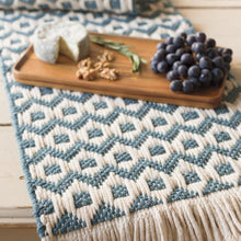 "Load image into Gallery viewer, Heirloom Sullivan 72"" Table Runner- Lagoon"